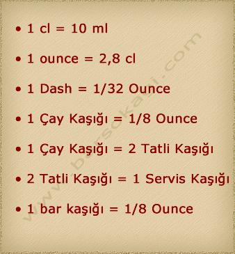bar ölçüm tablosu