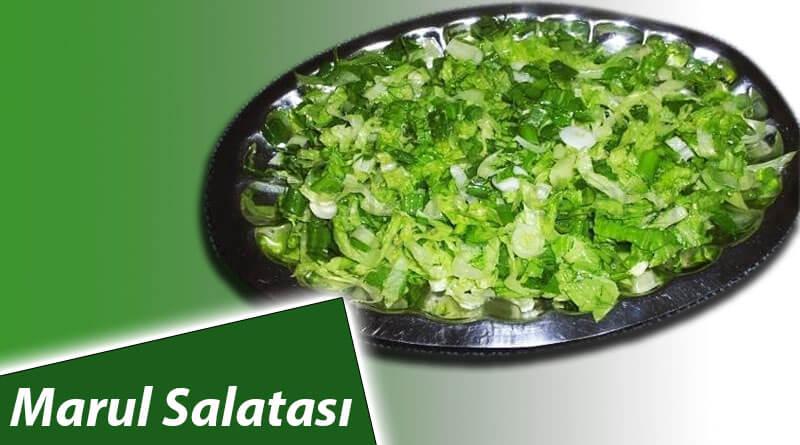 60 Saniyede Lezzetli Marul salatası Tarifi