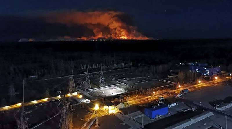 Çernobil yangını