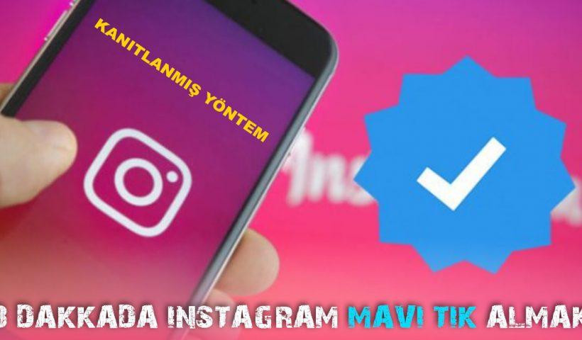 instagram mavi tik nasıl alınır